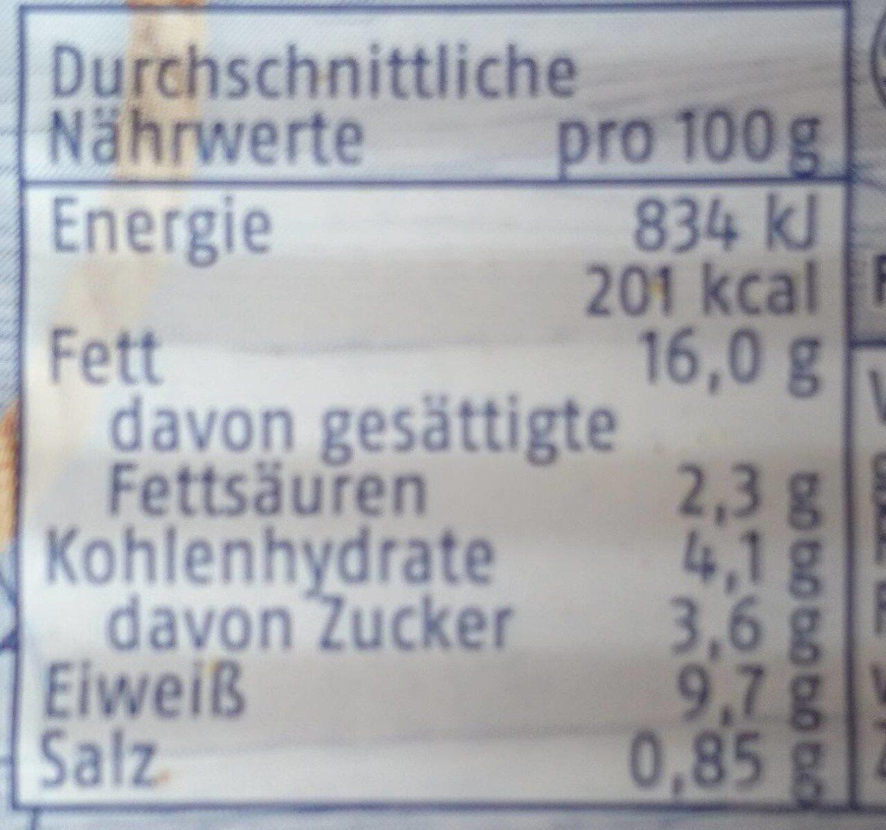 Heringsfilet in Paprika-Creme - Informations nutritionnelles - de
