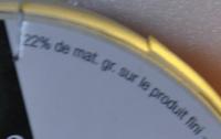 Camembert bio (22% MG) au lait microfiltré - Nutrition facts