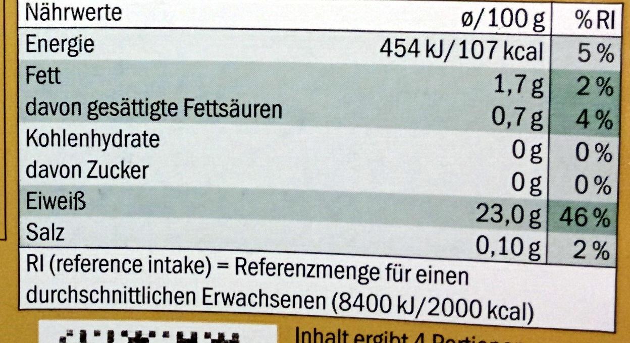 Hähnchenbrust Filet - Voedigswaarden
