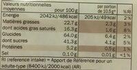 Gauffrettes choco noisette - Información nutricional - fr