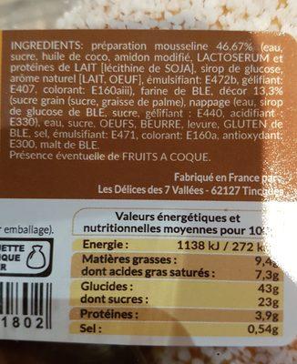 4 tropeziennes nature - Ingrediënten - fr