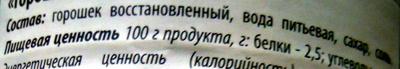 Консервы овощные стерилизованные «Горошек зеленый» - Ingrediënten - ru