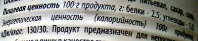 Консервы овощные стерилизованные «Горошек зеленый» - Voedingswaarden - ru