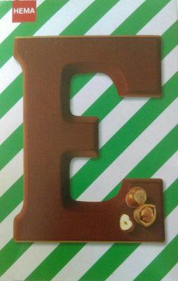 Lettre E en chocolat - Produit