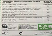 Chocolat lait noisette - Informations nutritionnelles - fr