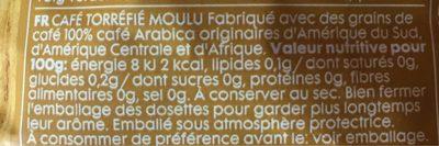 Regular coffee - Informations nutritionnelles - fr