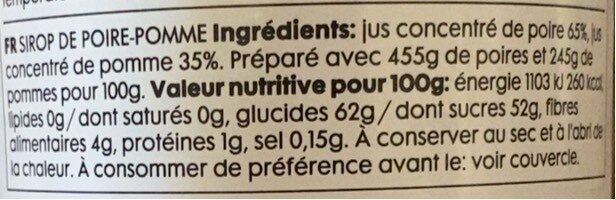 Pear & Apple Sread - Informations nutritionnelles - fr