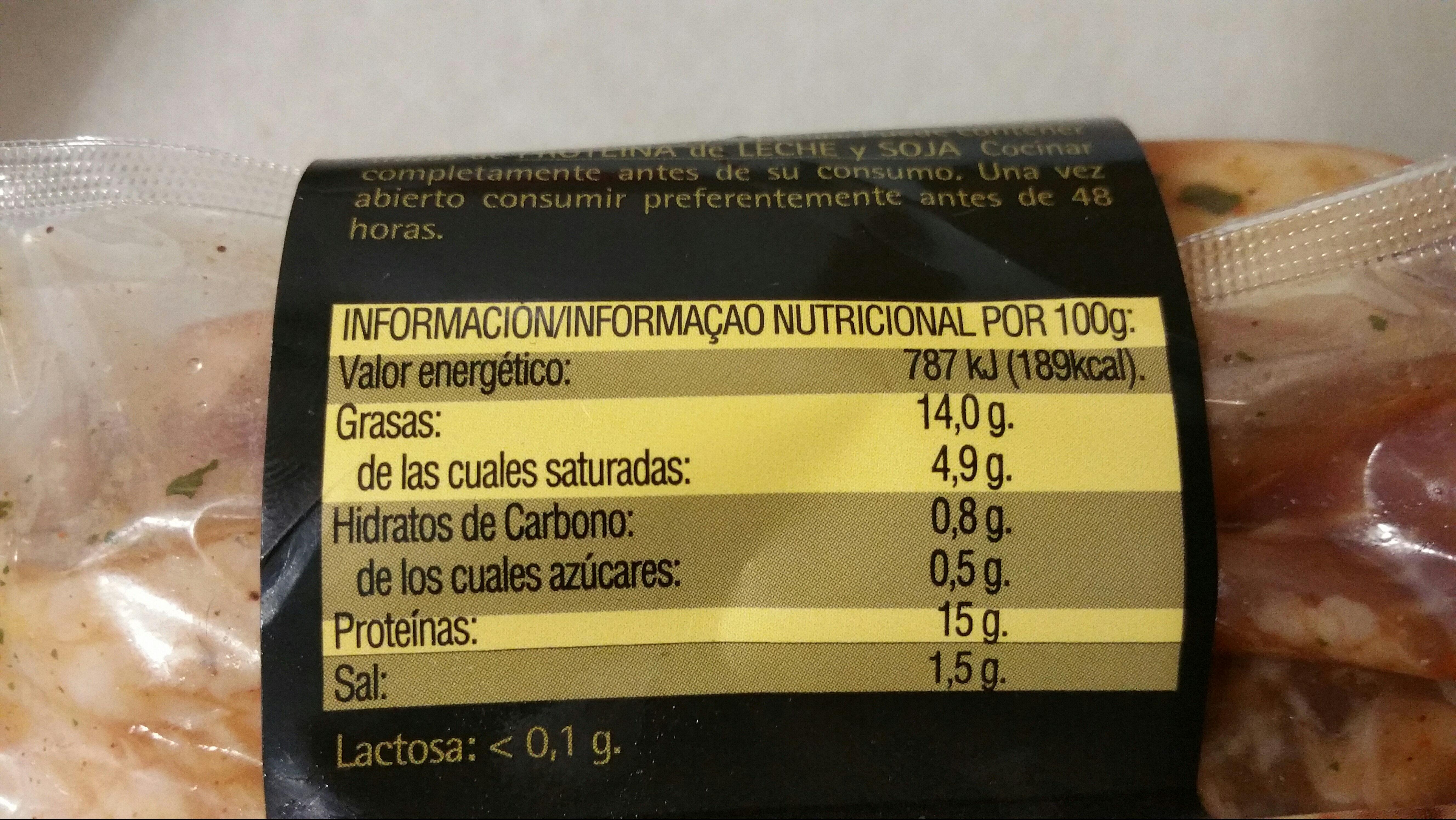 Secreto al Pedro Ximénez - Informations nutritionnelles - es