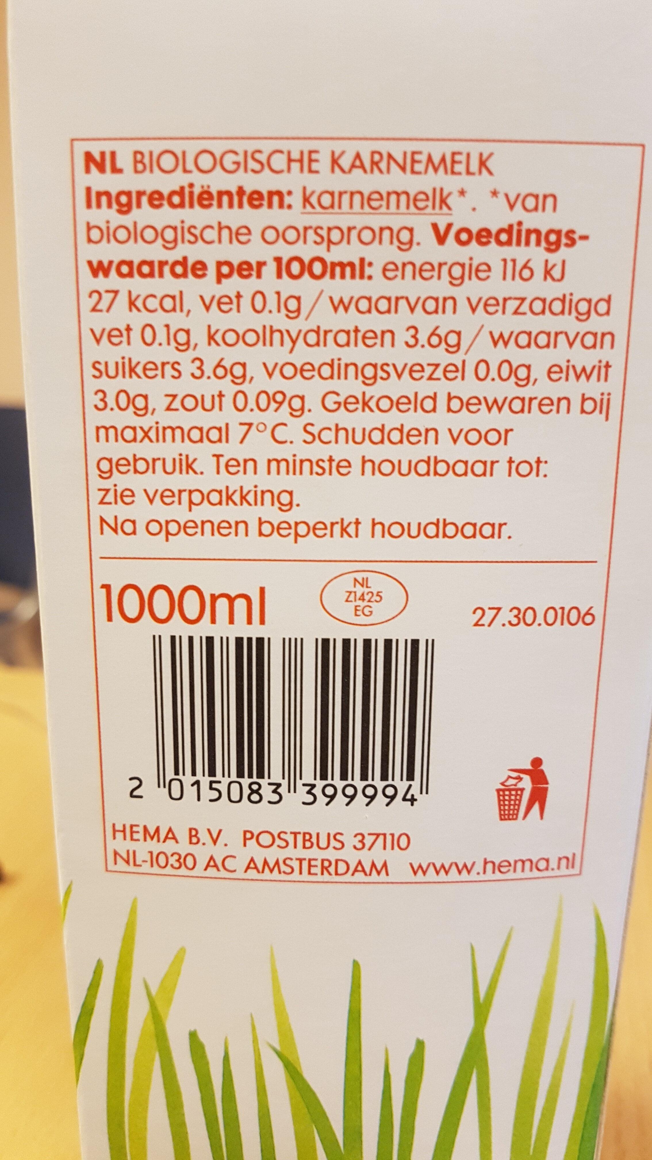 Biologische karnemelk - Product - nl
