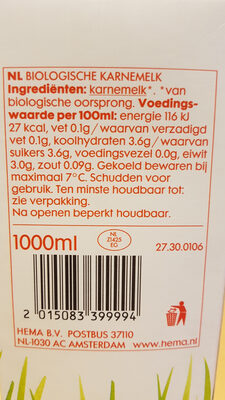Biologische karnemelk - Ingredients - nl