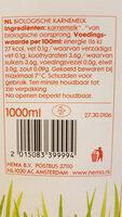 Biologische karnemelk - Nutrition facts - nl