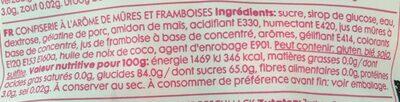 Sweet Blackberries - Ingredients - fr