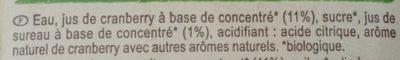 Cranberry - Ingredients