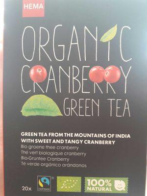 Organic Cranberry Green Tea - Product - en