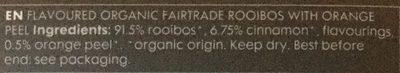 Organic Orange Rooibus Infusion - Ingredients