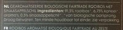 Organic Orange Rooibus Infusion - Ingrediënten - nl