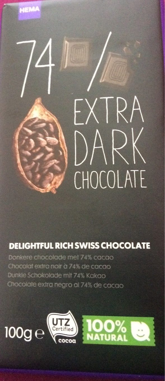 Chocolat extra dark - Product - fr