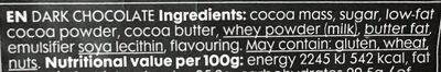 Chocolat extra dark - Ingredients - en