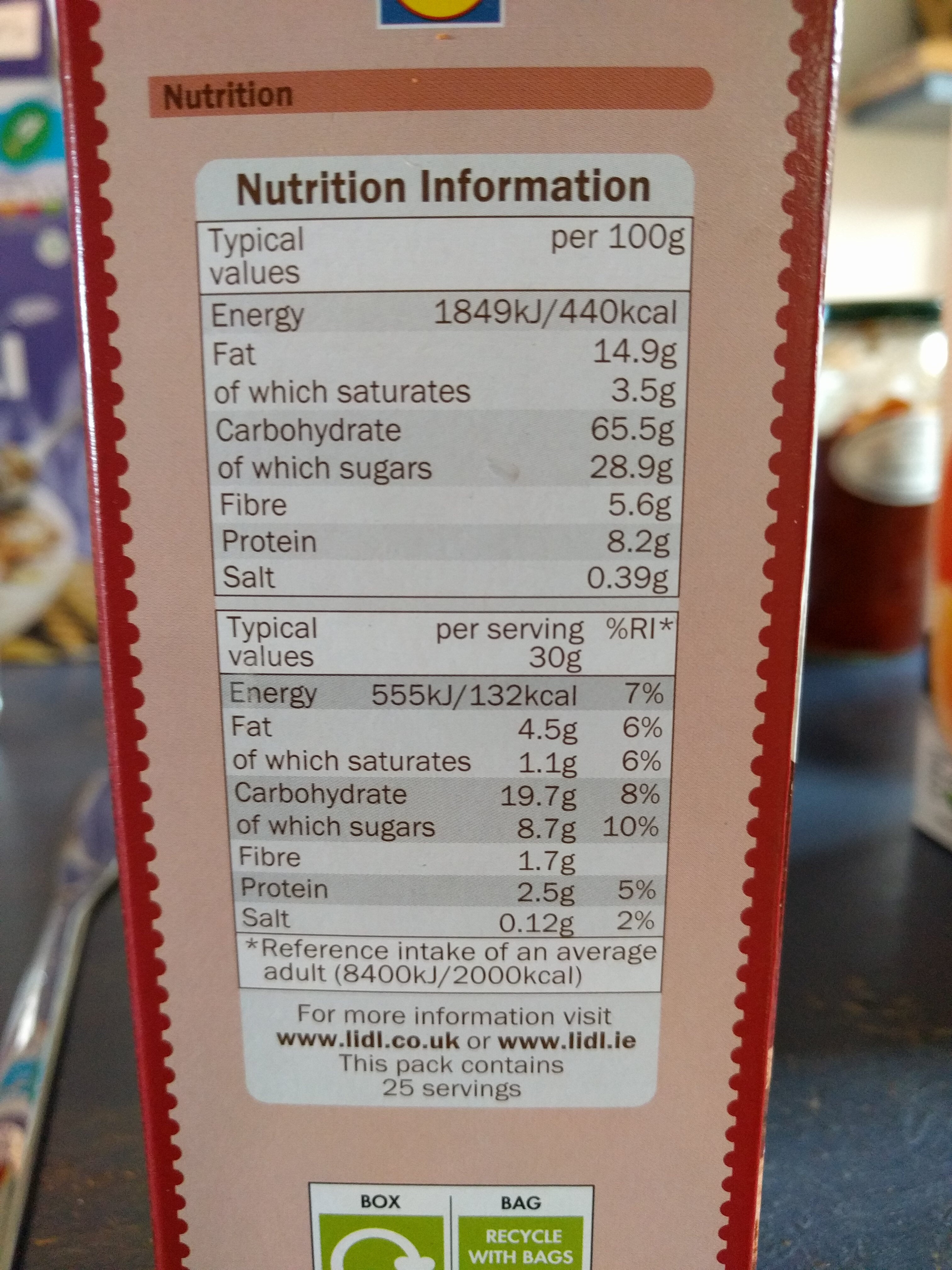 Nougat pillows - coeur fondant goût chocolat & noisette - Nutrition facts - en