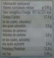 Heringsfilets in Paprikacreme - Informations nutritionnelles - fr