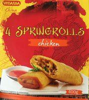 Culinea 4 Spring Rolls with Chicken - Produit - fr