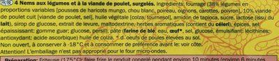Culinea 4 Spring Rolls with Chicken - Ingrédients - fr