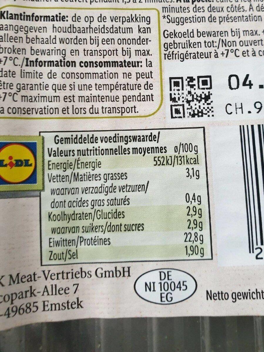Chiken breast  fillet  pieces rosemary - Voedingswaarden - nl