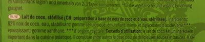 Kokosnussmilch / Lait de coco - Ingrédients