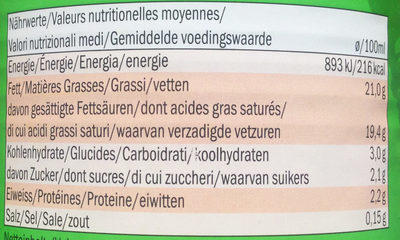 Kokusnussmilch - Nutrition facts