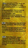 Chown mein noodles - Ingredients - en