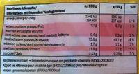 Chown mein noodles - Informations nutritionnelles - fr