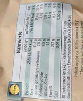 Jumbo Erdnüsse, geröstet - Valori nutrizionali - de