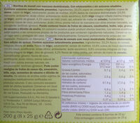 Barres céréales Pomme - Ingredients