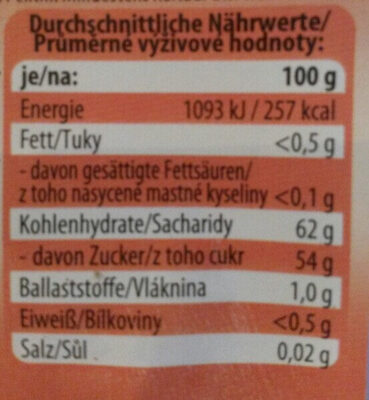 Erdbeer-Konfitüre extra - Nutrition facts