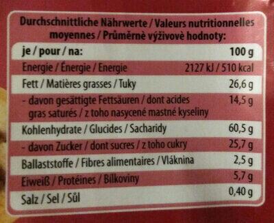 Gebäck- & Waffelmischung - Nutrition facts