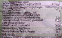 Porridge Oats Apple & Cinnamon - Informations nutritionnelles - cs