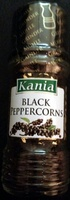 Black peppercorns - Product