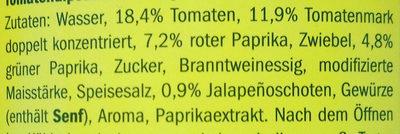 Salsa Dip, Medium Salsa Dip - Inhaltsstoffe - de