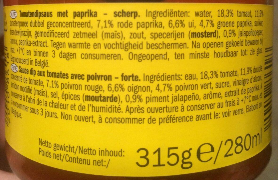 Salsa dip hot /jad - Ingrediënten - de