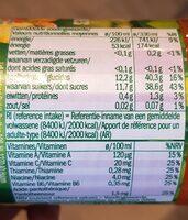 Jus multivitaminé - Nutrition facts - fr