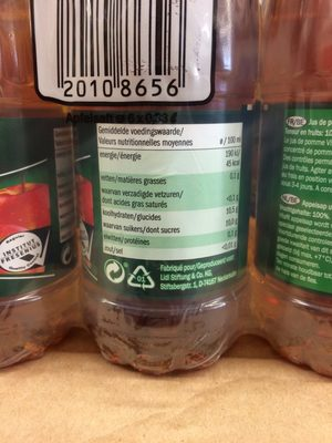 Jus de pomme - Nutrition facts