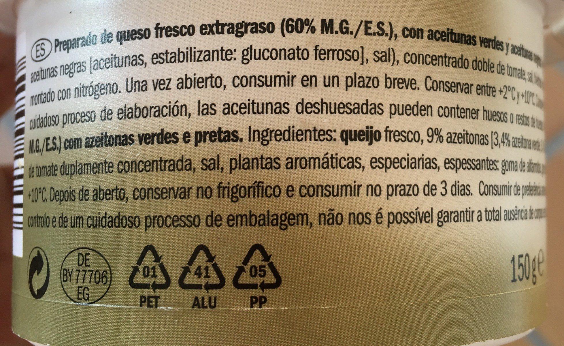 Aceitunas azeitonas - Ingrédients