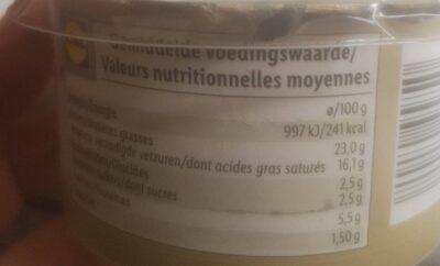 Crémeux aux olives - Información nutricional - es