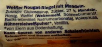 Nougat Mit Mandeln, Nuss - Ingredients
