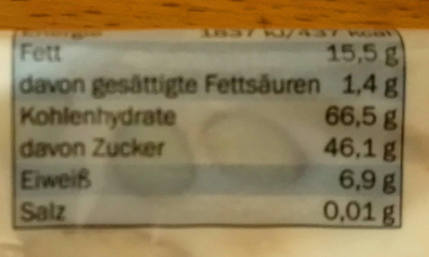 Nougat Mit Mandeln, Nuss - Nutrition facts