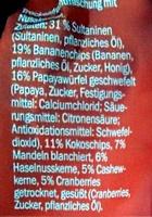 Studentenfutter Exotic - Ingredients - de