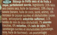 Studentenfutter Exotic - Ingrédients - fr