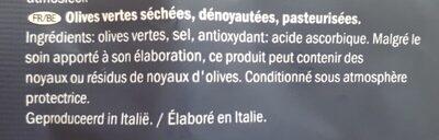 Olives vertes séchées - Ingrédients - fr