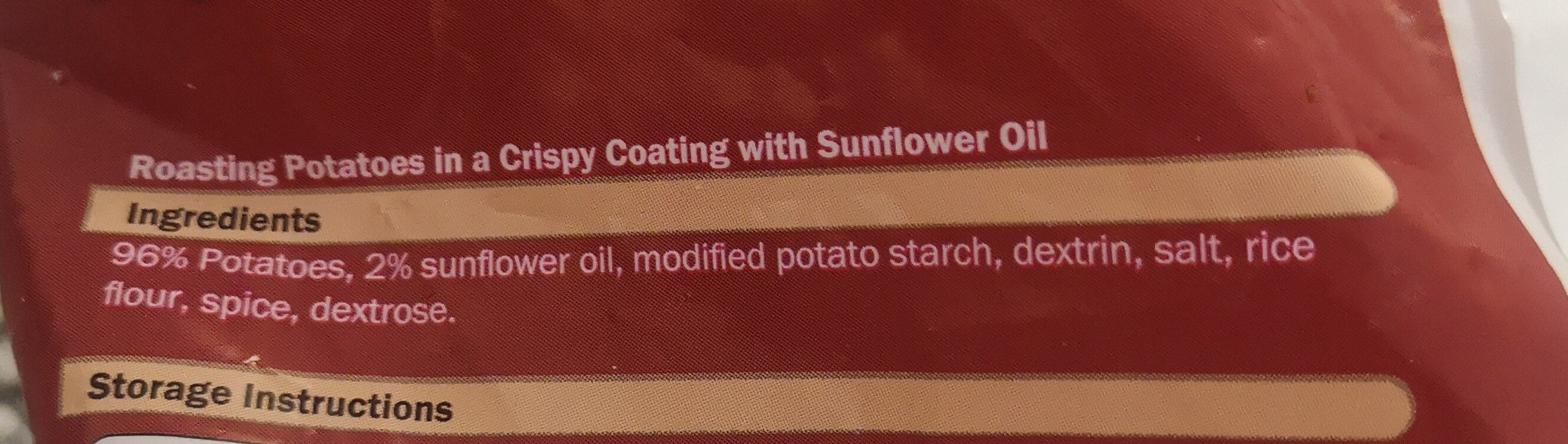 Roast Potates cryspy coated - Ingrediënten - en