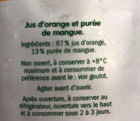 Orange et mangue - Inhaltsstoffe